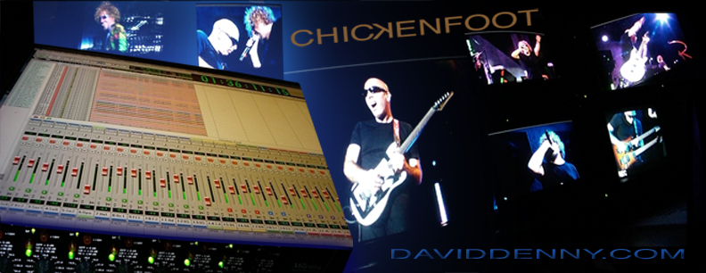 Chickenfoot Live at the Fillmore recorded by david denny and John cuniberti with pro tools